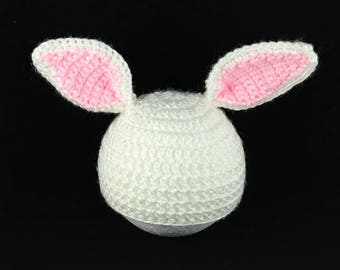 Crochet Easter Bunny Hat, Bunny Ears Hat, Baby Shower Gift, Newborn Photo Prop, Easter Gift for Baby