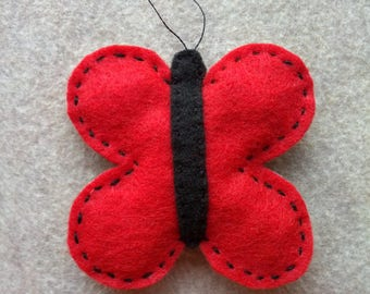 Butterfly Cat Toy with Organic Catnip, Butterfly Cat Toy, Bug Catnip Cat Toy, Catnip Toys, Felt Catnip Cat Toy, Multicolored Butterfly