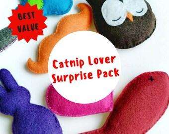 Catnip Cat Toy Starter Pack, Cat Toys, Catnip Cat Toys, Cat Teaser Toys, Cat Toy Set, Cat Lover Gift, Cat Toy Testers, Catnip Toys