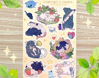 Cute Rats Sticker Sheet