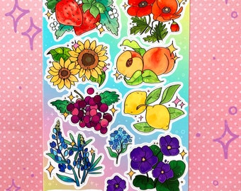 Fruit and Flower Stickers / Cute Stickers