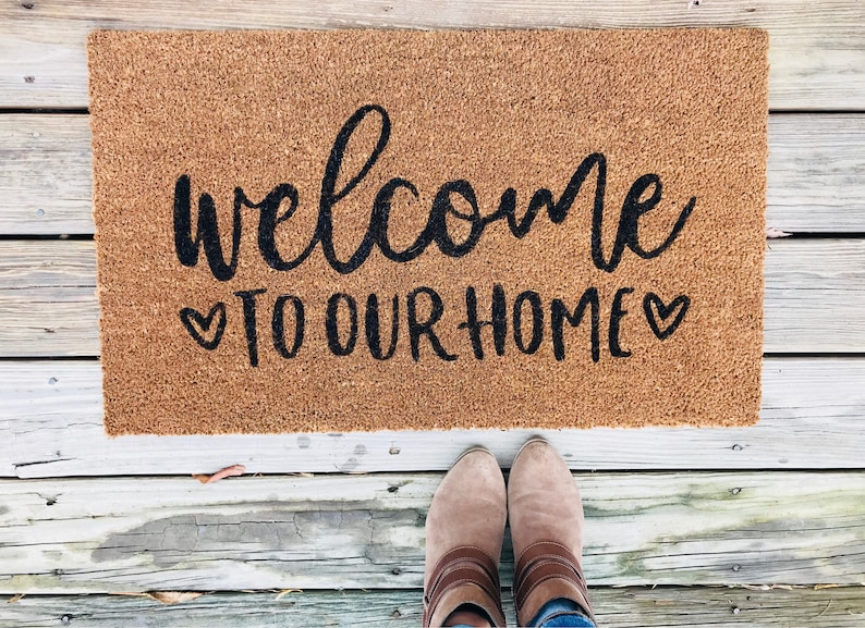 Welcome mat Door mat Custom Doormat Personalized Doormat image 0