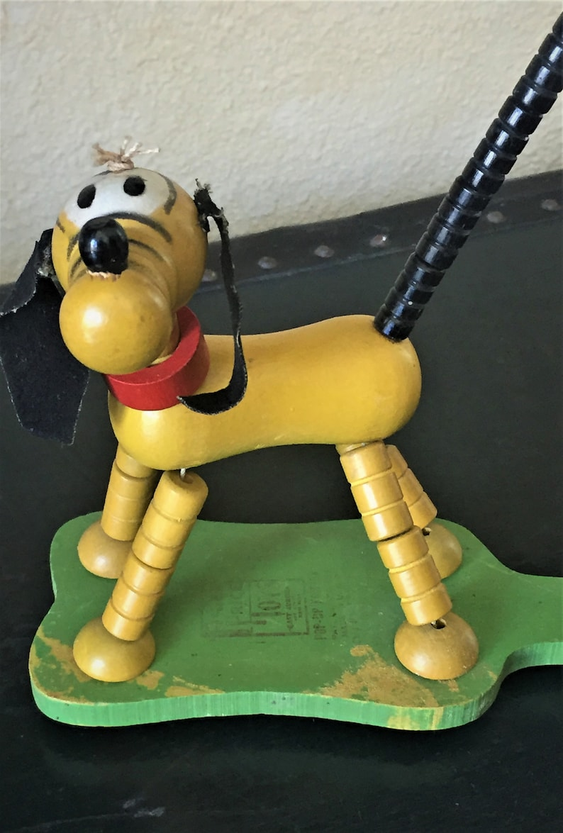 Collectible 1930s Fisher-Price Pluto Wood Pop-Up Kritters Child/'s Toy Pull String Vintage Toy
