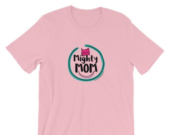 Mighty Mom T-Shirt / Pink Pussy Hat / Proud Mom / Resistance Wear / Protest Shirt / Donate to Planned Parenthood