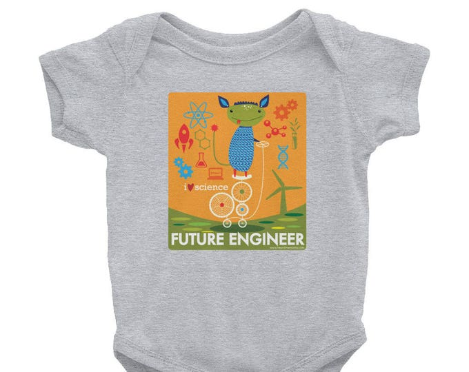 I Love Science Future Engineer Infant Bodysuit / Promote Science & Engineering / STEM / Donate to Union of Concerned Scientists