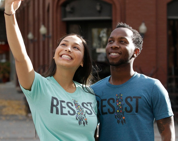 RESIST T-shirt / Resistance Wear / Protest Shirt / #Resist / Political Shirt / Never Give Up / Anti-Trump / On the March / Donate to ACLU