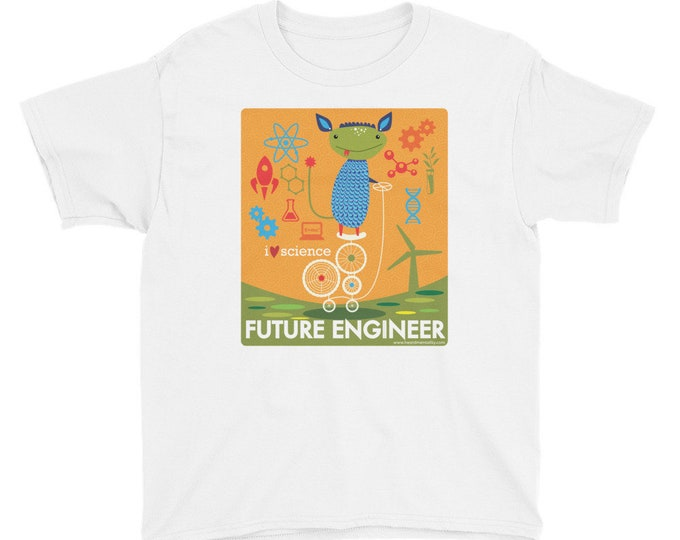 Future Engineer - I Love Science Youth T-Shirt / STEM Shirt / Support Science / Young Engineers / Donate to Union of Concerned Scientists