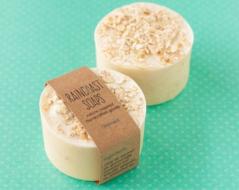 Oatmeal Lavender ROUND Soap Bar / eco friendly Mothers day gift / natural last minute mothers day gift / vegan gifts for mom / for her