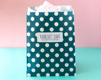 Gift Paper Bags / Treat paper bags / soap paper bags / polka dot bags / candy paper bags / gift wrapping