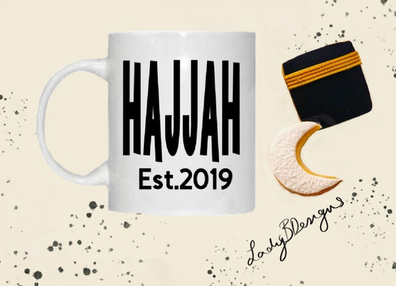 Hajjah, Hajj Mubarak Mug 2019  Mini Hajjah for Umrah  Islamic gift present