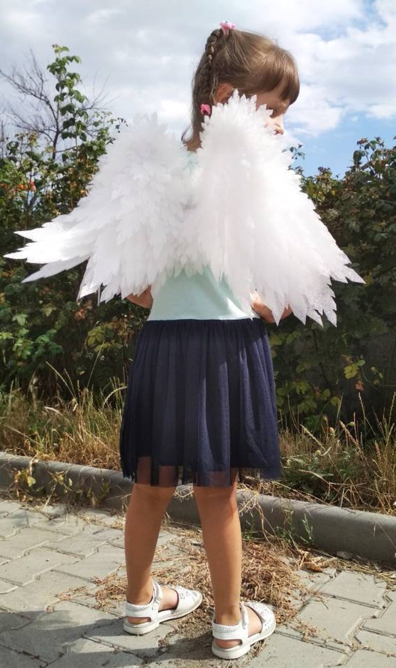 Christmas costume .Angel wings for a photo shoot  White wings White Angel wings. Angel Wings Costume