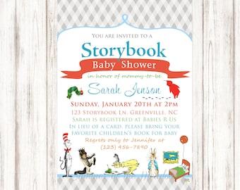 Storybook invitation etsy storybook baby shower invitation storybook invite book baby shower invite seuss goodnight filmwisefo