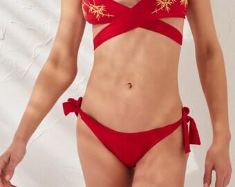 Classic Bikini Bottom-Red