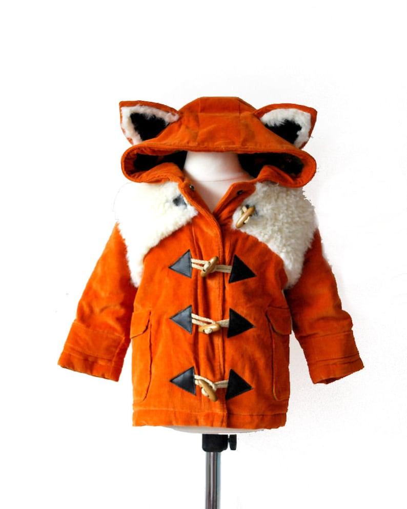 0f94efd24 Fox duffle coat JULY 2019 pre order orange white cute | Etsy