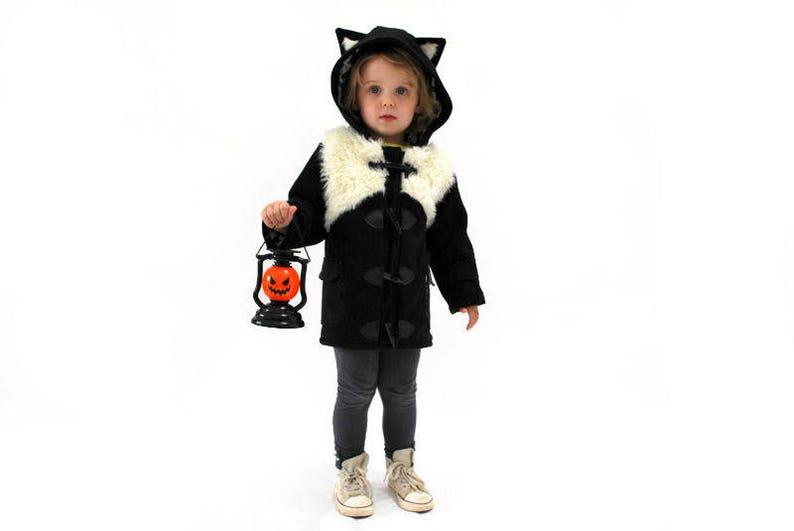 38086835e6c Childrens black cat coat JULY 2019 pre order kids fluffy white