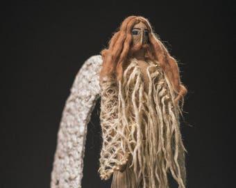 Textile artdoll. Angel