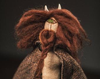Textile artdoll. Faun Picus.