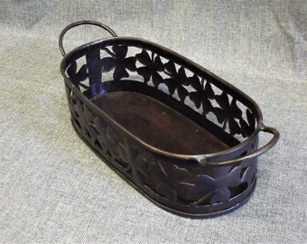 Vintage Metal Filigree Plant Holder