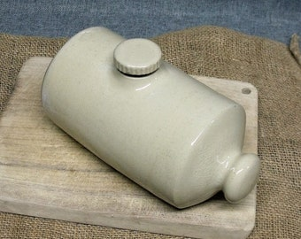 Vintage Stoneware Bed Warmer