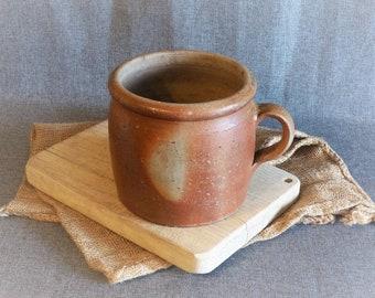 Large Antique French Earthenware Confit Pot