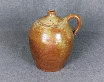 Antique French Earthenware Oil Jug