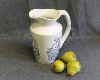 Antique French Ironstone Water Pitcher