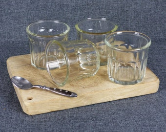 Set of 4 Vintage French Jelly Jars