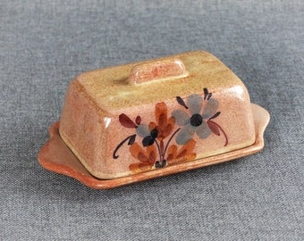 Rustic French Stoneware Butter Dish