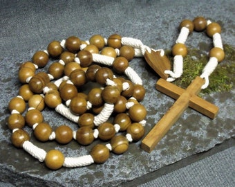 Vintage French Lourdes Wall Rosary Prayer Beads