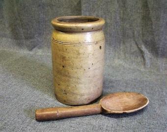 Antique French Earthenware Confit Pot
