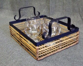 Vintage French Colonial Style Serving Tray