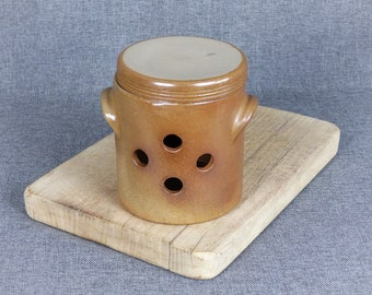 Vintage French Large Stoneware Garlic Keeper
