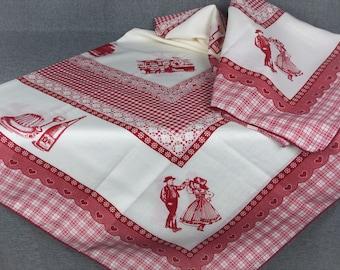 Vintage French Alsace Farmhouse Tablecloth