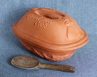 Vintage French Clay Roaster