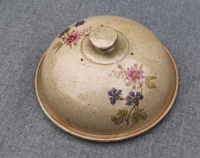 Featured listing image: Rustic French Stoneware Cheese Dome & Platter