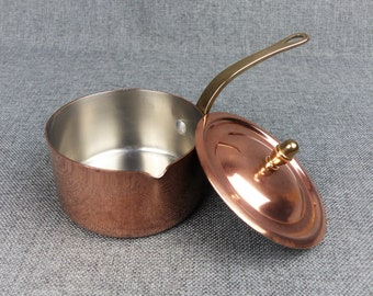 Small Vintage French Professional Copper Flambé Pan