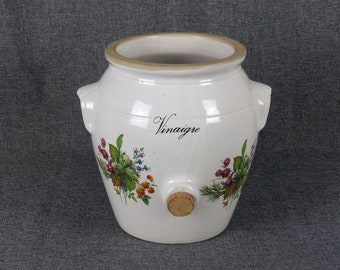 Traditional French Farmhouse Vinegar Crock