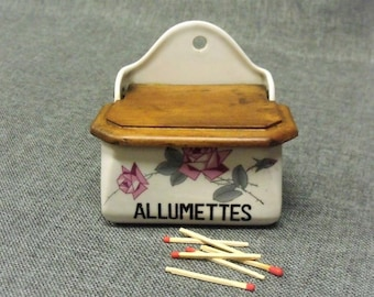 Vintage French Porcelain Match Box