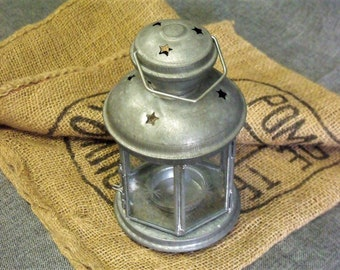 Vintage Zinc Farmhouse Candle Lantern