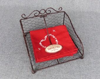 French Farmhouse Chicken Wire Napkin Holder