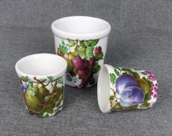 Vintage French PILLIVUYT Porcelain Jars - Set of 3