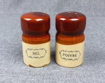 Vintage French Farmhouse Salt & Pepper Shakers