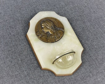 """French Art Deco """"Bénitier"""" Holy Water Font"""