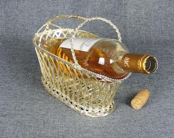 Vintage French Wireware Wine Caddy