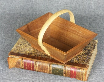 Small Rustic French Farmhouse Trug Basket