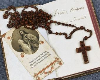 Vintage French MONT SAINT MICHEL Rosary Prayer Beads