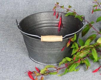 French Farmhouse Zinc Bucket Planter