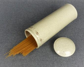 Rustic French Stoneware Spaghetti Pasta Jar