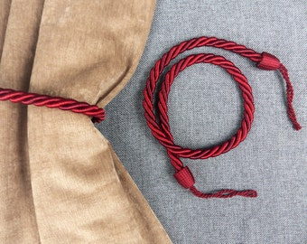 Pair of Vintage French Twisted Cord Curtain Tie-Backs