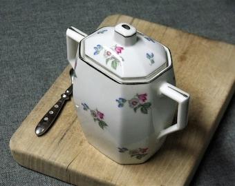 Art Deco French Porcelain Sugar Bowl